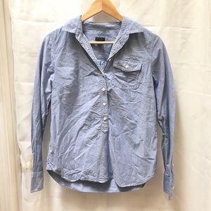 J. Crew Light Jean Popover Collared Shirt